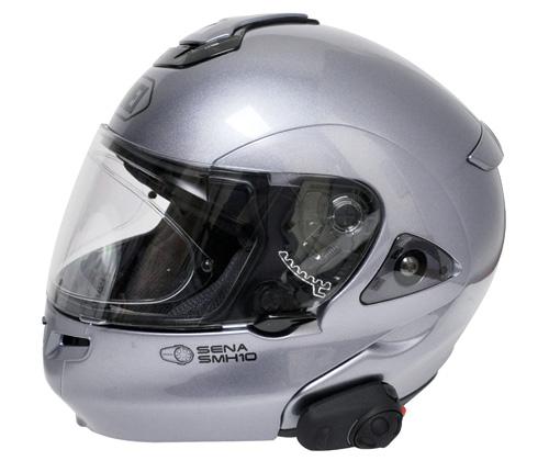 SMH5をヘルメットに装着