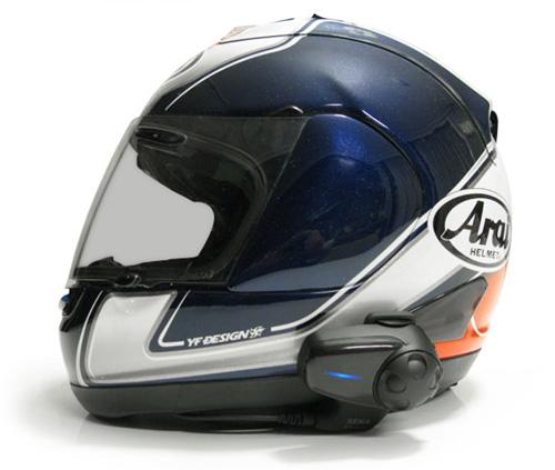 SMH10をヘルメットに装着